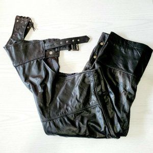 Diamond Plate Leather Unisex Chaps